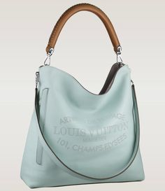 """Expanding its collection, Louis Vuitton has added Bagatelle hobo bag to the Parnassé family. The roomy Bagatelle features perforated """"House's historic Hobo Handbags, Fashion Handbags, Purses And Handbags, Fashion Bags, Leather Handbags, Hobo Purses, Pink Handbags, Large Handbags, Shoulder Handbags"""