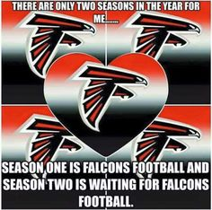 Two Seasons in a year Falcons Rise Up, Falcons Football, Football Is Life, Football Conference, Football Pictures, Professional Football, Atlanta Falcons, National Football League, 4 Life
