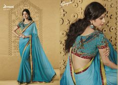 Buy this stunning Chiffon Blue saree along with Fancy Blue Blouse work with Dew drops, Rawsilk Lace, Satin Printed Lace by Laxmipati Saree. #Catalogue #SANGEET Price - Rs. 2083.00 Visit for more designs@ www.laxmipati.com #ReadyToWear #OccasionWear #Ethnicwear #FestivalSarees #Fashion #Fashionista #Couture #SANGEET0816 #LaxmipatiSaree #autumn #winter #women #her #she #mystery #lingerie #black #lifestyle #life #ColoursOfIndia #HappyBride #WhoYouAre #WomanPower #EpicLove #ministryoftextiles Laxmipati Sarees, Blue Saree, Dew Drops, Printed Sarees, Occasion Wear, Blue Blouse, Powerful Women, Daily Wear, Bridal Collection