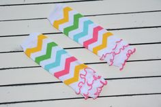 Fun and colorful these Rainbow leg warmers will be sure to put a smile on everyone's face!