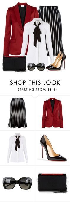 """Untitled #1273"" by gallant81 ❤ liked on Polyvore featuring J.W. Anderson, PALLAS, Diane Von Furstenberg, Christian Louboutin and Bottega Veneta"