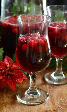 Cranberry Sangria 1 from willcookforsmiles.com