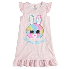 7ad485608c5 Girls 4-12 TY Beanie Boos Plush Nightgown