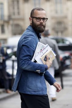 On the Street….Denim Sportcoat, Paris    8 months ago  /  173 notes        On the Street….Henley Options, Florence and Paris    8 months ago  /  3 notes
