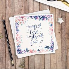 We can rest in His perfect love! @izzyandpop #LetteringHisLove