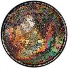1880-S Morgan Dollar PCGS MS67 #LSRC #PCGS #MORGANDOLLAR #Coins #GoldCoins #Silver #Coins #USCoins #TheHappyCoin