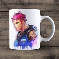 Zarya Coffee Mug, Overwatch Game Mug