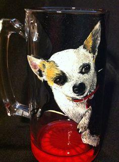 Chihuahua Pet Portrait Wine Glass