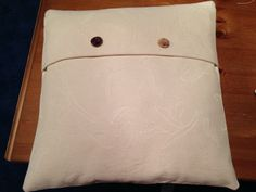 Faux folding cushion cover with button detail
