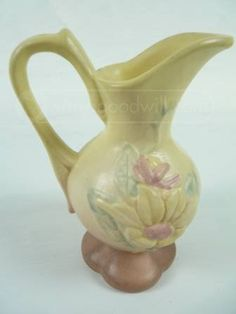 shopgoodwill.com: Hull Pottery Small Yellow Floral Pattern Pitcher