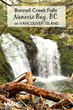 A short hike down a steep roped trail leads to three beautiful waterfalls. This hidden gem in Nanoose Bay, BC on Vancouver Island, is definitely worth the stop! Vacation Places, Vacation Trips, Vacations, Camping Places, Weekend Trips, Vancouver Travel, Vancouver Island, Canadian Travel, Canadian Rockies