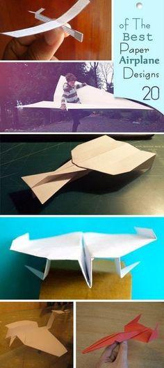 Best Paper Airplane Designs!