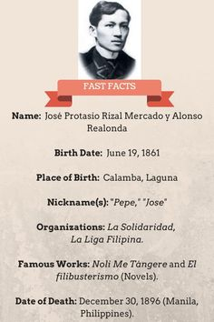 """As one respected Filipino historian once said, """"Jose Rizal is everywhere yet he is nowhere."""" Let's look back at the life of this oft taken-for-granted hero. Weird Facts, Fun Facts, Crazy Facts, El Filibusterismo, Jose Rizal, Noli Me Tangere, Patriotic Quotes, Filipiniana, Famous Words"""