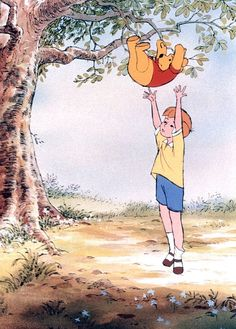 Winnie the Pooh and the Honey Tree Winne The Pooh, Cute Winnie The Pooh, Winnie The Pooh Quotes, Winnie The Pooh Friends, Eeyore Quotes, Cartoon Pics, Cute Cartoon Wallpapers, Winnie The Pooh Pictures, Disney Collage