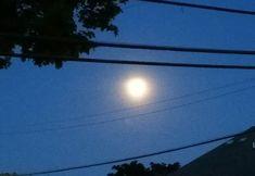 SO beautiful!  Evening walk under a brilliant full moon. #GodisGood