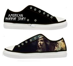 American Horror Story Tate and Violet woman canvas by Tattabia, $44.99 want high tops of these