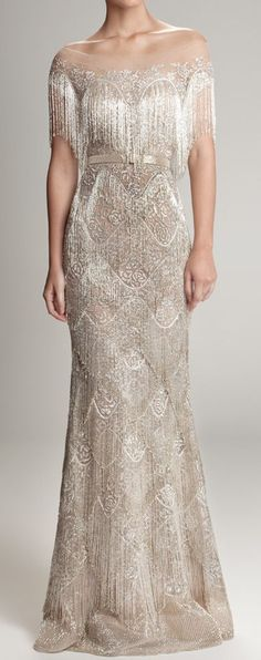 Beautiful art deco inspired wedding gown: