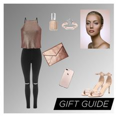 """""""Untitled #66"""" by azbie ❤ liked on Polyvore featuring Topshop, Miss Selfridge, Rebecca Minkoff, Verali and Essie"""