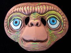 Vtg 80s Halloween E T Extra Terrestrial Mask Alien New Free Shipping | eBay