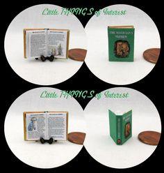 The MAGICIAN'S NEHPEW Miniature Illustrated Book Dollhouse 1:12 Scale Miniature Book Dollhouse Book by LittleTHINGSinterest on Etsy