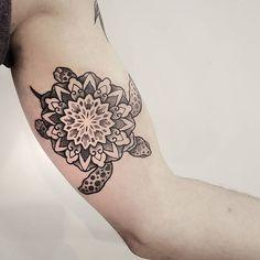 Tattoos And Piercings, Mandala Turtle Tattoo, Tattoos Peircings, Tattoo Inspiration, Tattoos Piercings, Mandala Elephant Tattoo