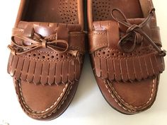 Womens Dexter Brown #Leather Soles Slip On Loafer #Shoes 7 1/2
