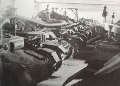 Panzer IV's of the 28th Panzer Regiment converted for submersible operation during training for Operation Sealion. The whole unit is fully fitted out with its diving gear on.  Many elements are identical to those used on  submersible Panzer III's.