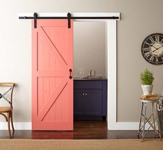 Update your home's interior by painting and installing a barn door with this easy how-to.