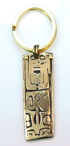 Maori Tribal Bronze Talisman Pendant  Keyring  by EspritMystique