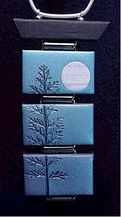 I like this style-- Mike Buessler. Unfortunately he doesn't clay anymore. Fortunately, I was able to take a few classes from him. I believe you can still purchase video tapes by him.one on landscape canes, and one on mica shift techniques Polymer Clay Pendant, Fimo Clay, Polymer Clay Projects, Polymer Clay Creations, Polymer Clay Art, Polymer Clay Jewelry, Diy Fimo, Crea Fimo, Plastic Fou
