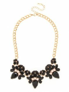 this black bib is the perfect compliment to any party dress