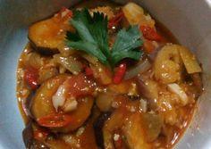 Asam manis pedas terong ungu foto resep utama Kung Pao Chicken, Meat, Ethnic Recipes, Food, Essen, Yemek, Meals