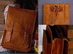 Hard Leather Backpack - Backpack Her