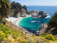 Why we love it: Big Sur is so beautiful it almost doesn't look real. While most of the beaches are off limits (though there are a few you can get to, like Limekiln State Beach), the real feature here is the hiking. You'll see huge cliffs, waterfalls plunging into the ocean, lush vegetation, and maybe even dolphins and otters playing in the shallows. There are places to camp but book in advance because they fill up fast.