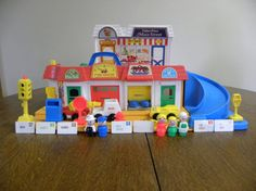 Vintage Fisher Price Little People Main Street - Complete on Etsy, $170.00