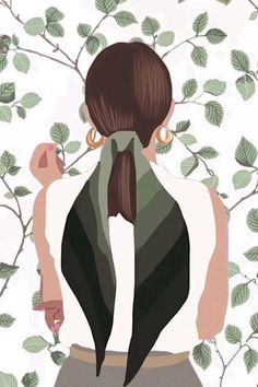 Home - Sage Green Template Painting Digital, Digital Art Girl, Painting Art, Portrait Illustration, Flat Illustration, Woman Illustration, Arte Fashion, Cartoon Art, Illustrators