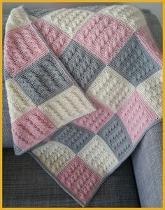 Amazing Knitting provides a directory of free knitting patterns, tips, and tricks for knitters. Knitting Blocking, Knitting Squares, Knitted Baby Blankets, Baby Blanket Crochet, Baby Boy Knitting Patterns, Crochet Patterns, Square Blanket, Blanket Shawl, Knit Or Crochet