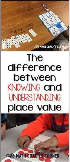 The Difference Between Knowing and Understanding Place Value What types of activities help students go beyond a surface understanding of place value? Math Strategies, Math Resources, Math Activities, Place Value Activities, Math Games, Maths Fun, Math Tips, Kids Math, Math 2