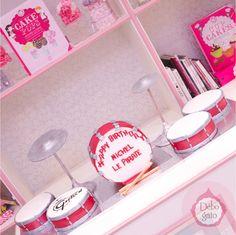 Gâteaux personnalisés, Paris, Passion, Gourmandise, Anniversaire, Gâteau d'anniversaire, Cake design Paris, Birthday cake, Batterie, Musique, Drums