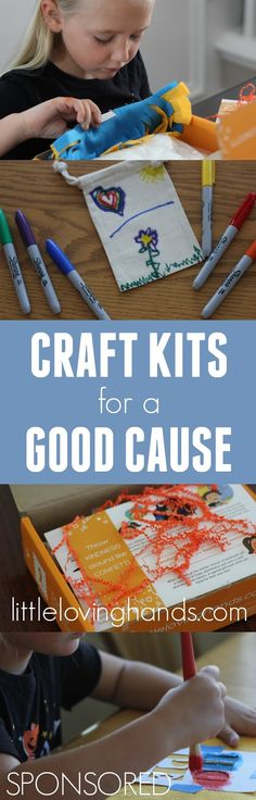 Toddler Approved!: One Simple Way For Kids to Give Back While Crafting | Little LovingHands #sponsored #littlelovinghands #craftsforacause #kidsgiveback @lillovinghands