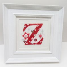 Embroidered Applique Letter Picture
