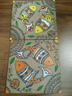 Madhubani art on coasters