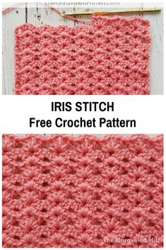 Crochet Afghans Ideas Irish stitch free crochet pattern - Love this! - Relaxing and easy to memorize Irish stitch free crochet pattern is a simple one row repeat crochet pattern that creates an elegant texture. Crochet Afghans, Crochet Stitches For Blankets, Crochet For Beginners Blanket, Crochet Stitches Patterns, Baby Blanket Crochet, Crochet Hooks, Stitch Patterns, Crochet Geek, Beginner Crochet Stitches