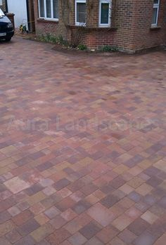 Marshalls tegula driveway, Romsey - installed Aura Landscapes