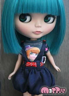 MOTTEE satin bubble dress (navy blue)   ~ http://www.thisisblythe.com/shop/