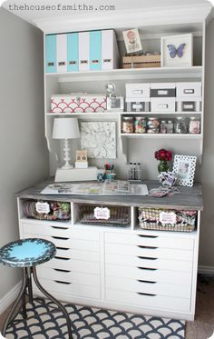 DIY a custom desk with plenty of shelving to get all the storage you'll need. | 36 Ways To Add Storage To Everything You Own
