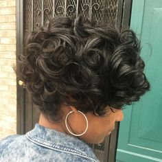 30 Winning Looks with Long Pixie Haircuts in Here are the greatest ways to wear short hair; 30 Winning Looks with Long Pixie Haircuts in These sophisticated long pixie cuts., Pixie Haircuts and Hairstyles Curly Pixie Haircuts, Short Curly Pixie, Long Pixie Hairstyles, Long Pixie Cuts, Long Curly, Afro Hairstyles, Hairstyles 2016, Black Hairstyles, Short Curls