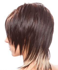 Medium Straight Alternative Hairstyle (Chocolate) - side view 1