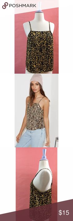 NWT >> Kendall + Kylie >> Animal Print Cami >> M NWT >> Kendall + Kylie for Pacsun >> Square Neck camisole >> animal print >> Size M ( Would also fit a small) >> Perfect/New condition! Kendall & Kylie Tops Tank Tops