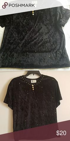Black top. 100% polyester New without a tag visage Tops